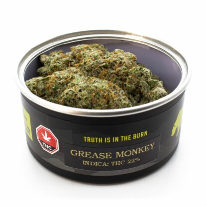 Grease Monkey BC Bud from Skookum Canned Cannabis producer